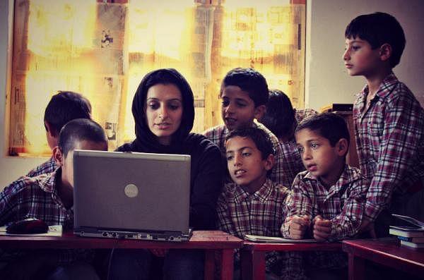 A computer class in Haji Public School, Grade 2