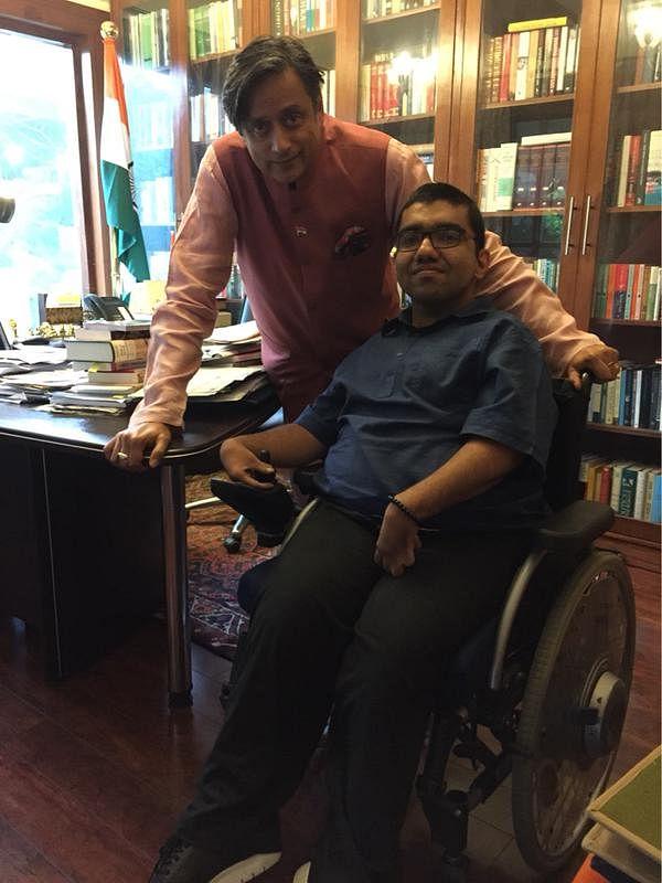 Nipun with Shashi Tharoor