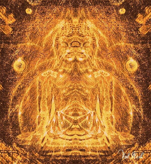 Twin Buddha - A manifestation after the mantra 'Om Mani Padme Hum'.