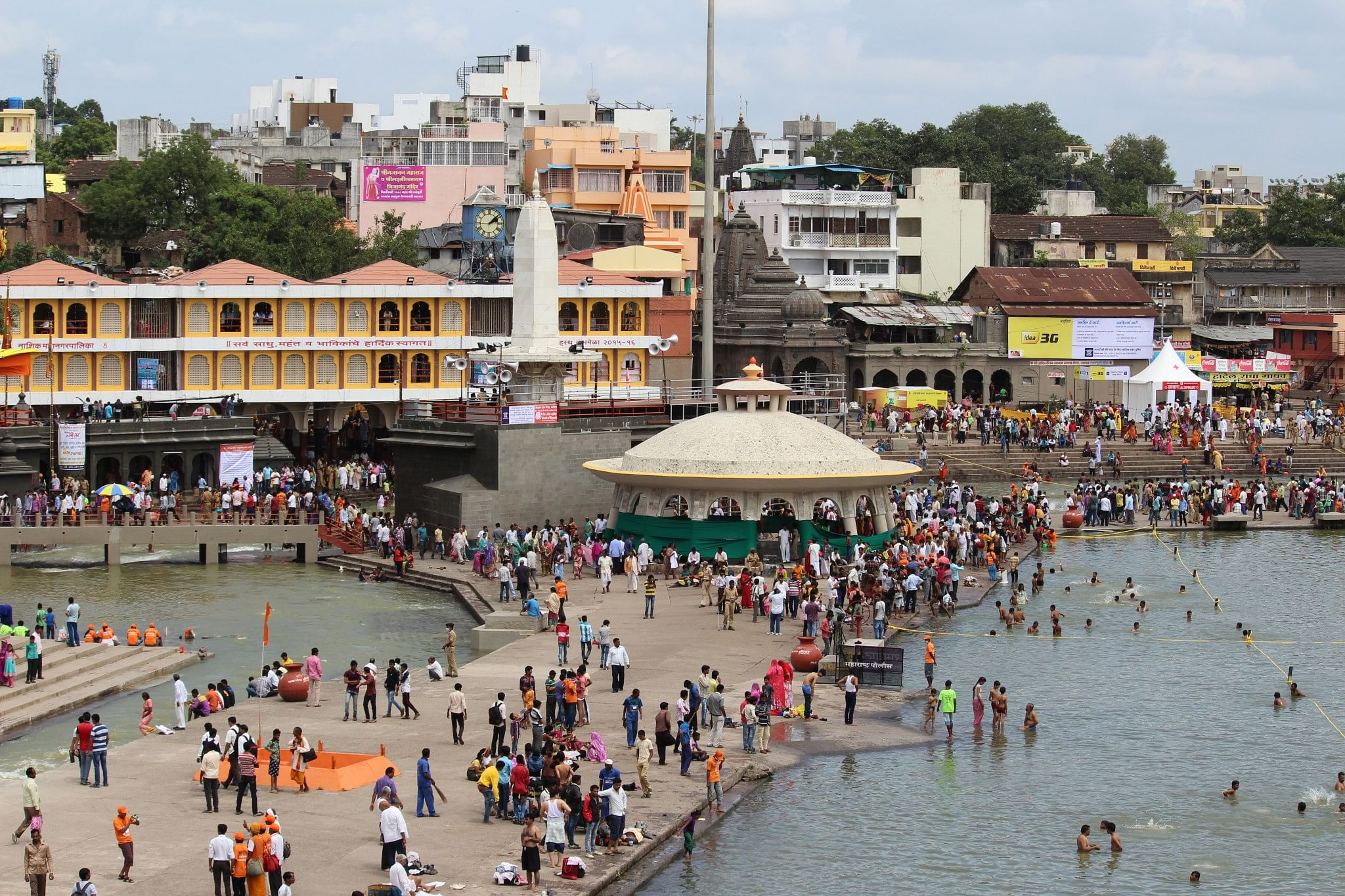 my story i was terribly afraid of the kumbh mela till i finally a view of ramkund nashik