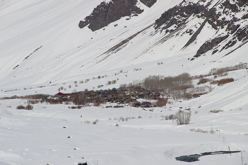 Mushko, Kargil in November, isolated from the rest of the world