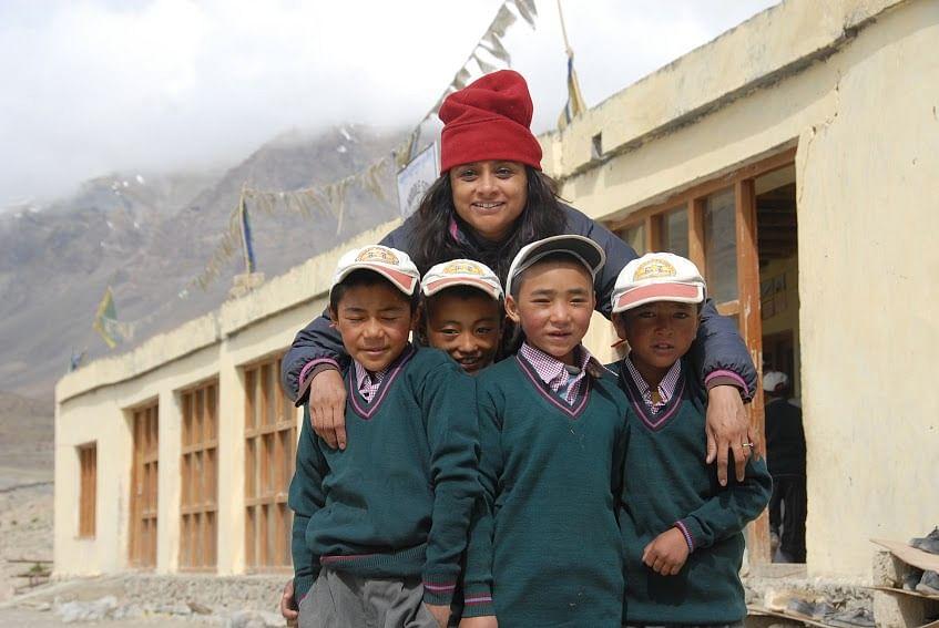 Founder Sujata Sahu with children