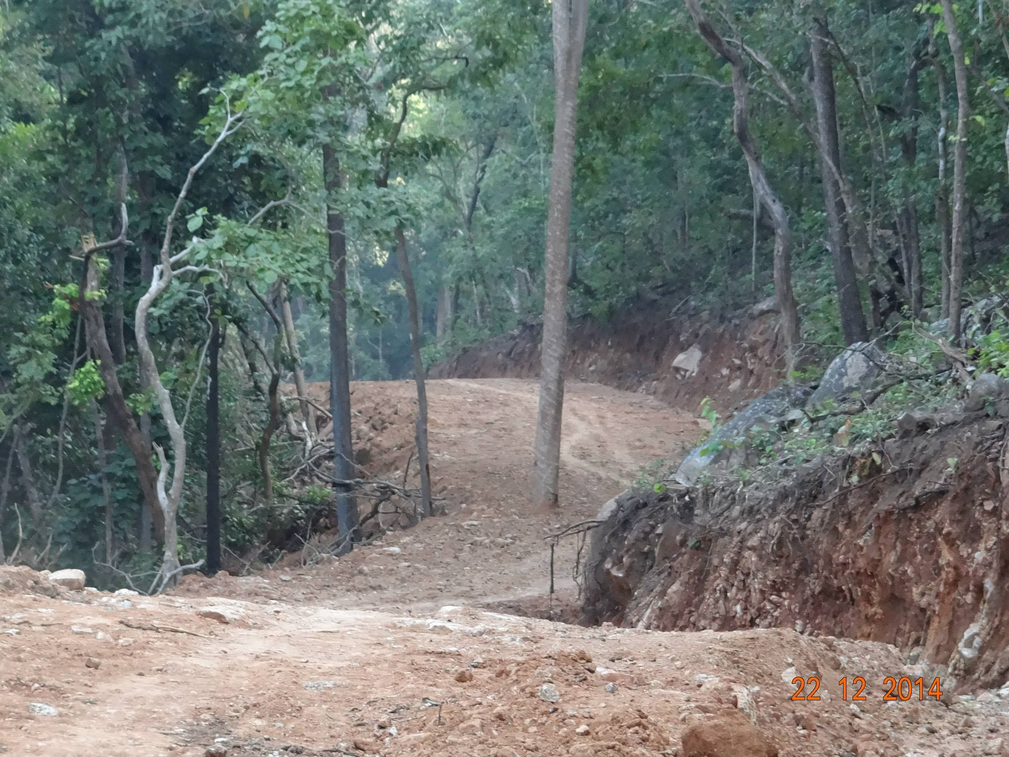 The road was cut through a ghat to the Garadama gram panchayat.