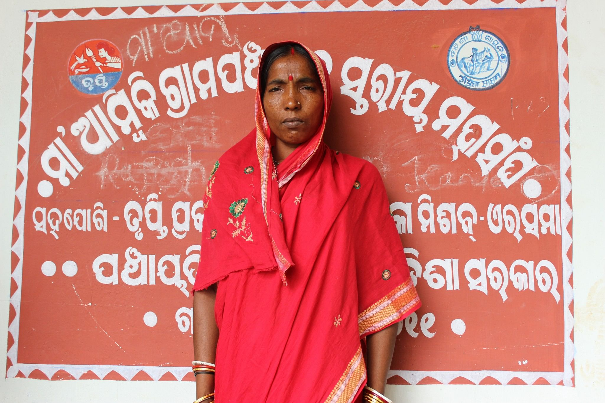 A survivor of severe domestic violence, Sumitra Giri has been given a new lease of life due to the efforts of her local self help group women and the panchayat that collectively came down heavily on her husband. (Credit: Manipadma Jena\WFS)