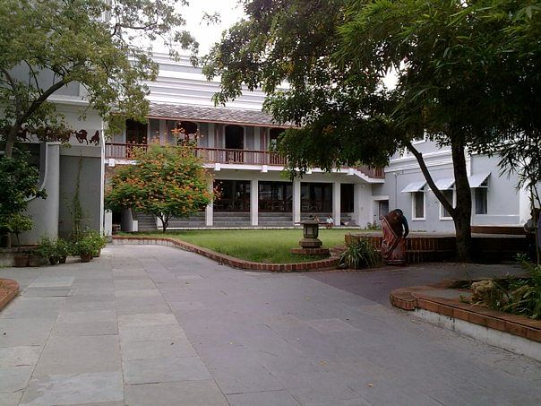The entrance of the Sri Aurobindo International Centre of Education