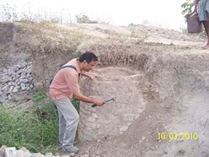 Ashok Singh working at Chandankheda site