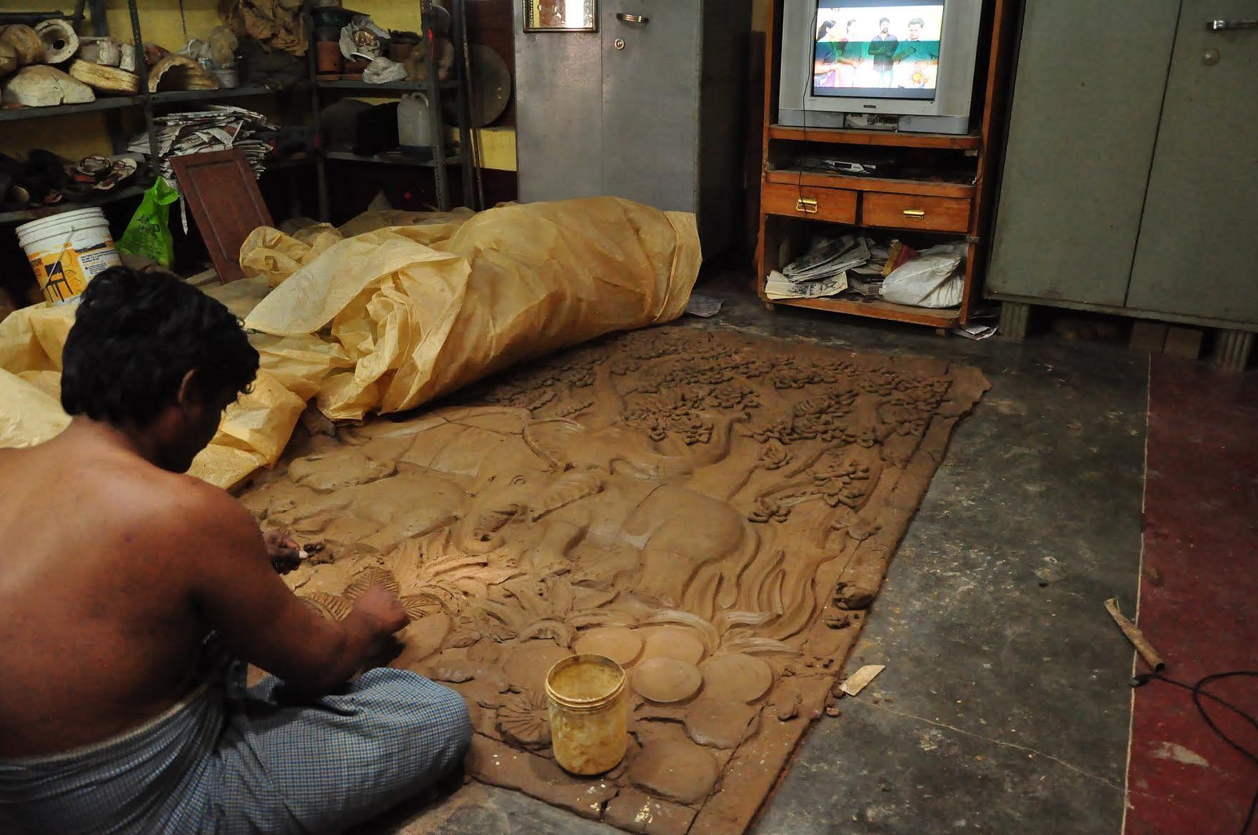 Ganesha idols are bought from local artisans near Bengaluru.