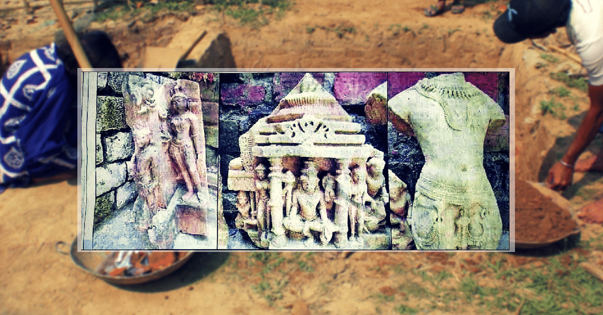 A 100kg Buddha Statue and Other Sculptures – UP Villagers Dig up Some History
