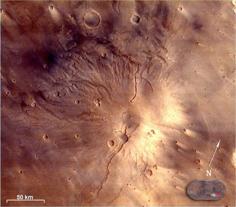 Tyrrhenus Mons as seen by Mars Color Camera (MCC)