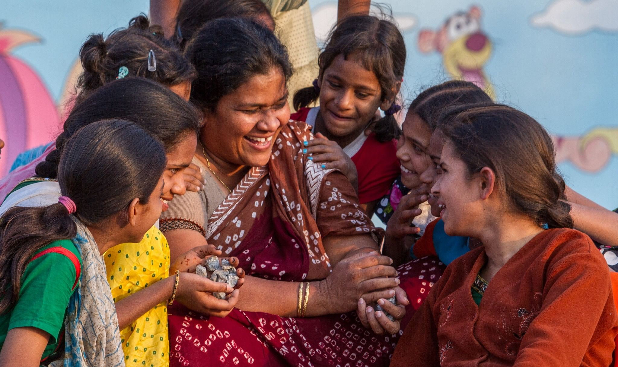 Shobha treats the kids like her own.