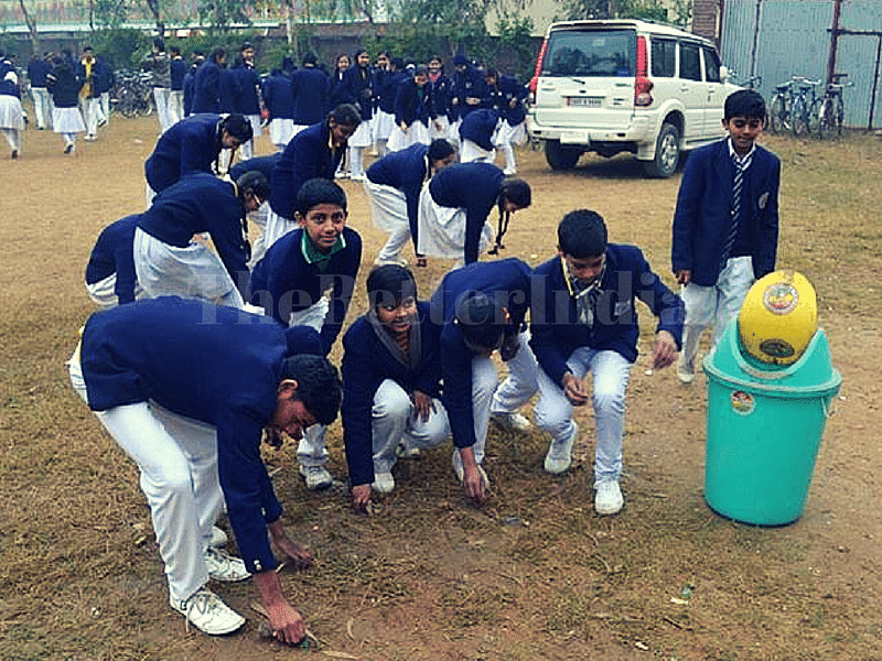 Children at a session with Abhishek