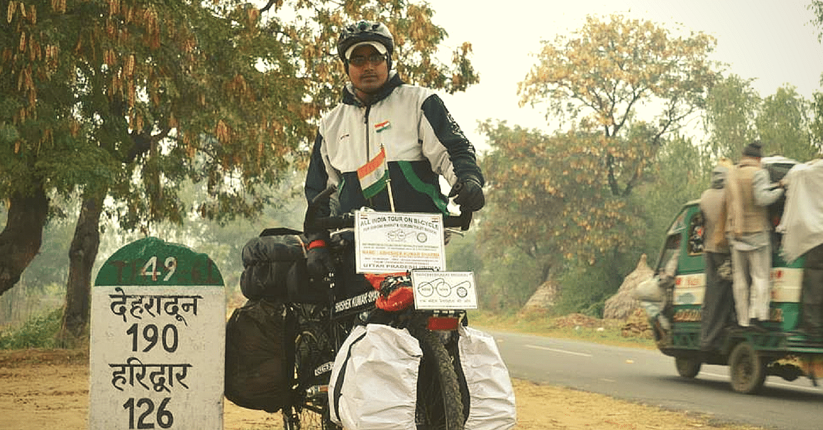 The Reason Why This 28-Year-Old Is Cycling across India Should Inspire Every Indian
