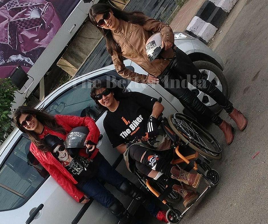 Deepa with her daughters.