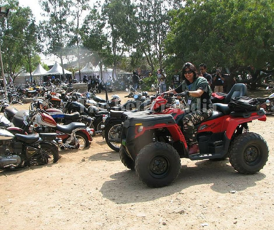 Deepa has completed many tough bike journeys on her customised bike.