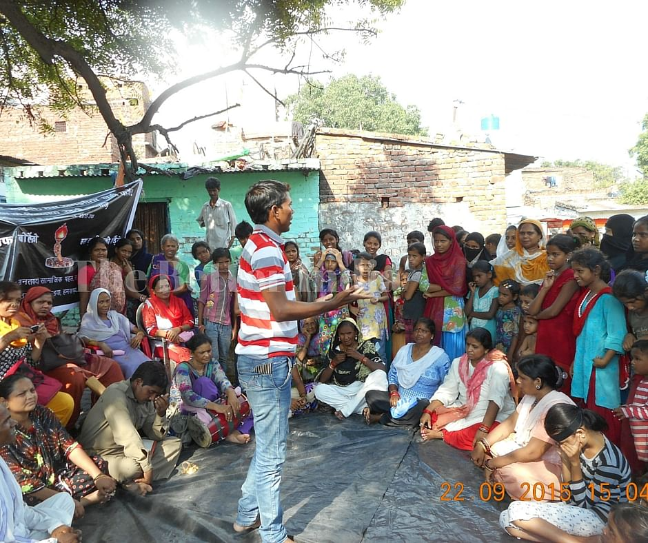 Vanangana has been successfully organising campaigns to address domestic and patriarchal violence through street plays and theatre all over Uttar Pradesh. (Courtesy: Sanatkada)