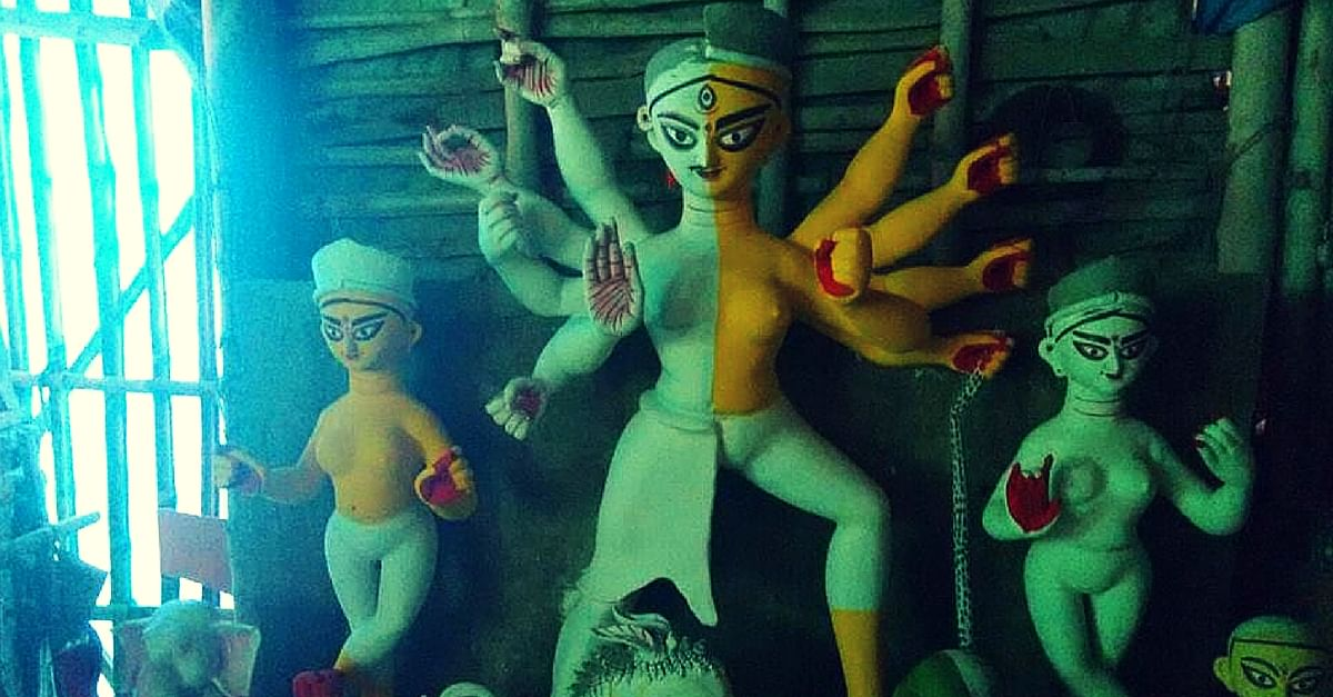 Kolkata Welcomes Country's First Transgender Durga Idol. Breaks All Stereotypes