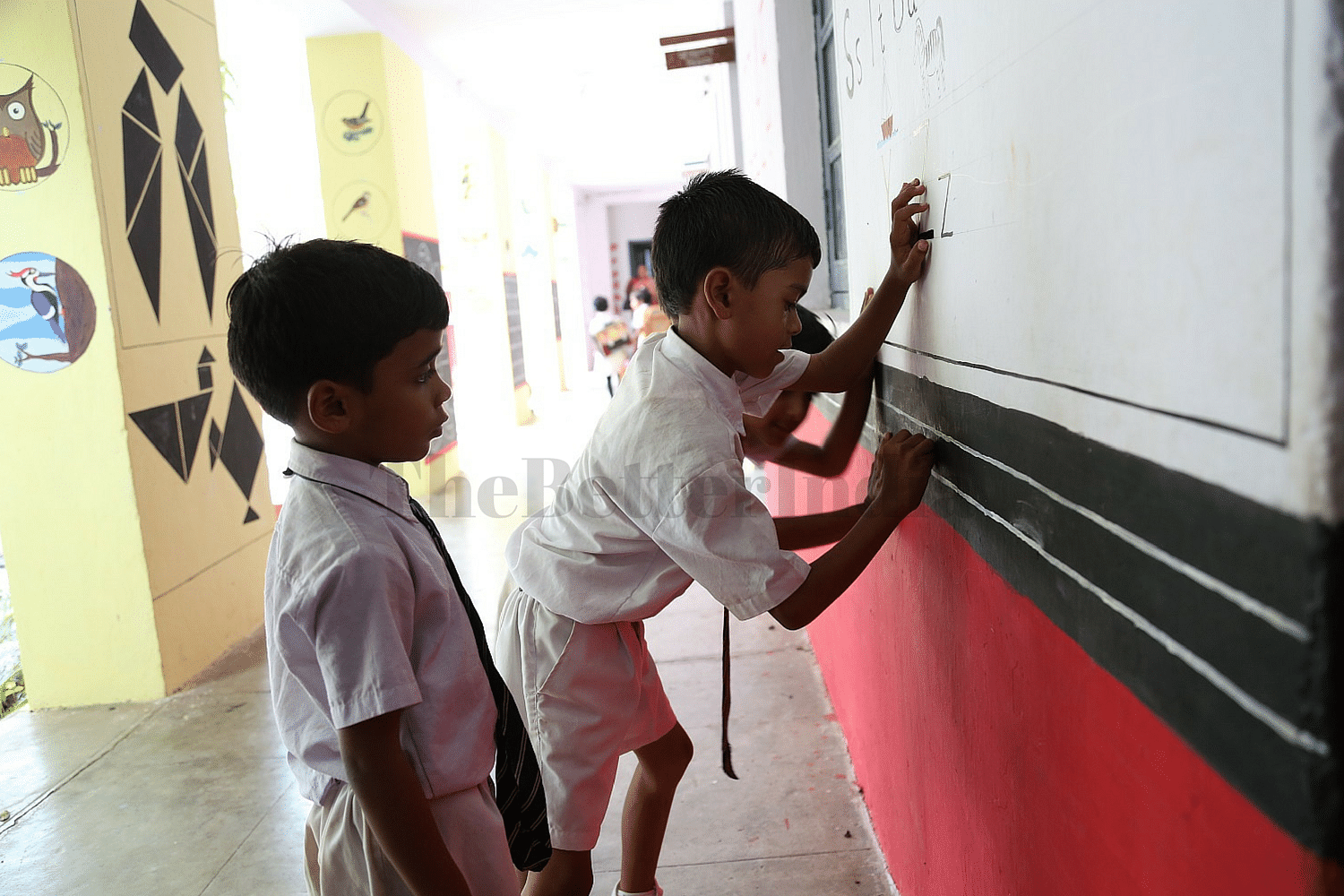 Writing on the walls is very much allowed!