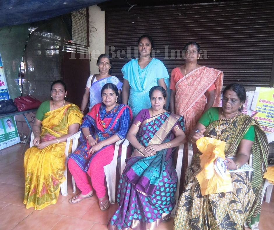 Bindu Shivadasan, 40, (in purple sari) President of the Mattathur Gram Panchayat in Thrissur district of Kerala, has successfully transitioned from being an accomplished Kudumbashree member to a respected panchayat leader. (Credit: Ajitha Menon\WFS)
