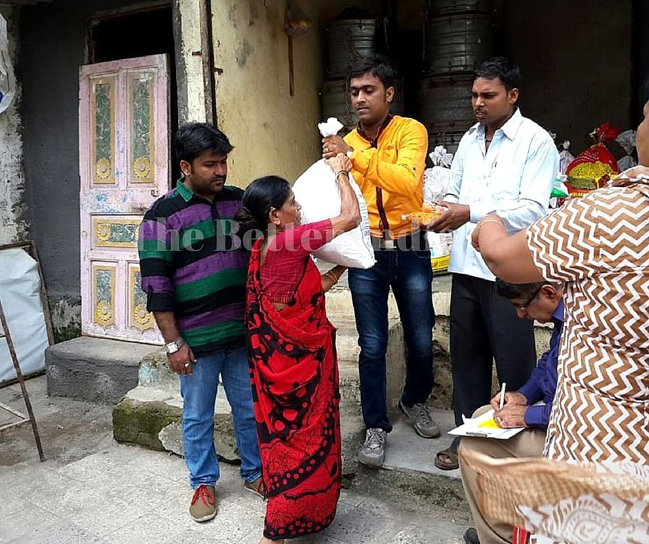 The trust provides food kits to the tribal community around Mumbai.