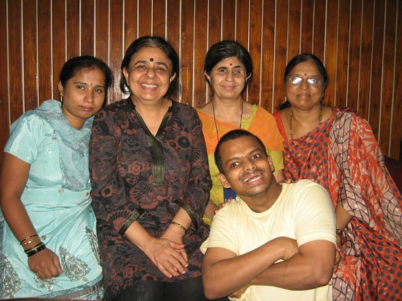 Siddharth with his family.