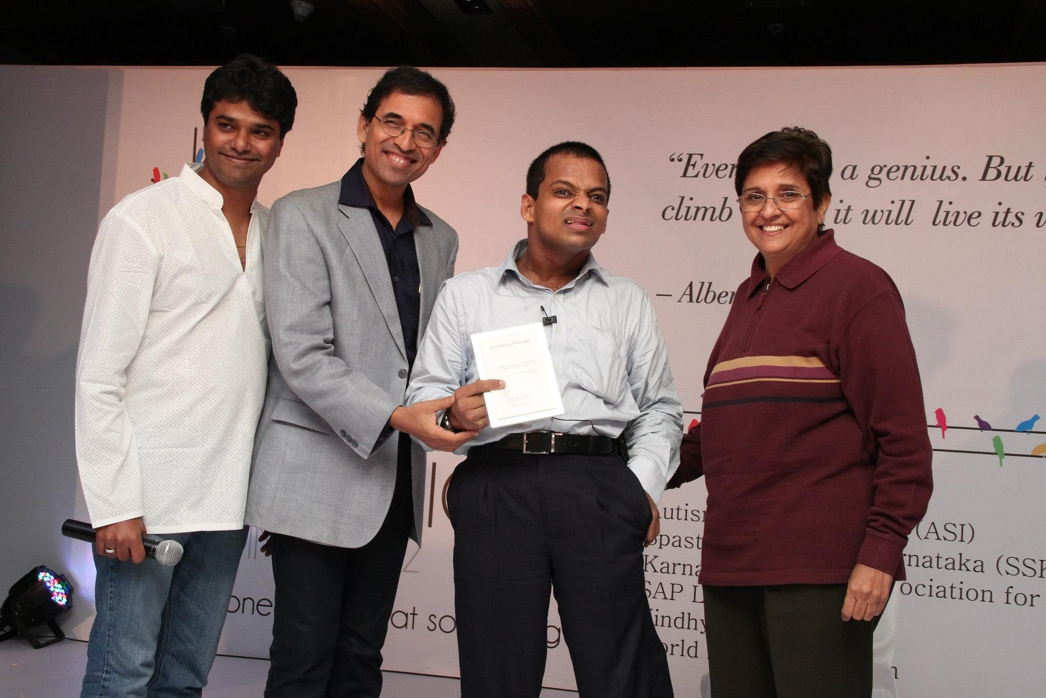 Siddharth has received various awards and recognitions for his work.