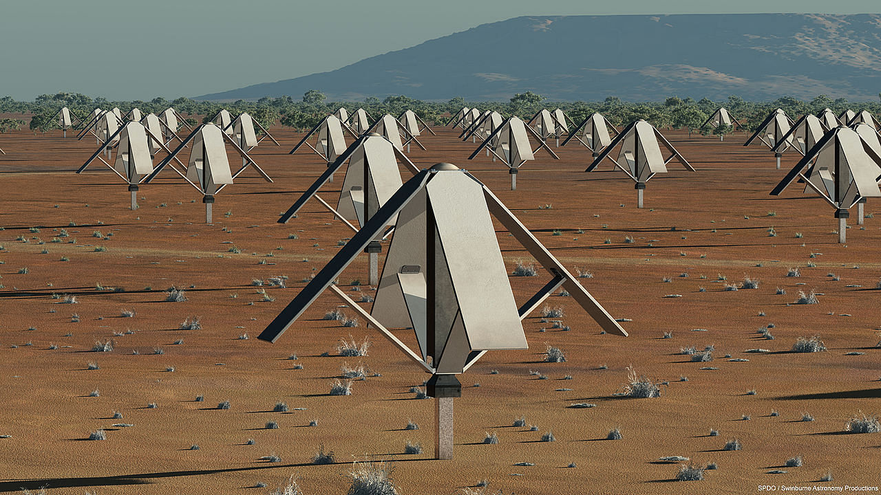 Artist's impression of a Low-Band SKA Sparse Aperture Array Station