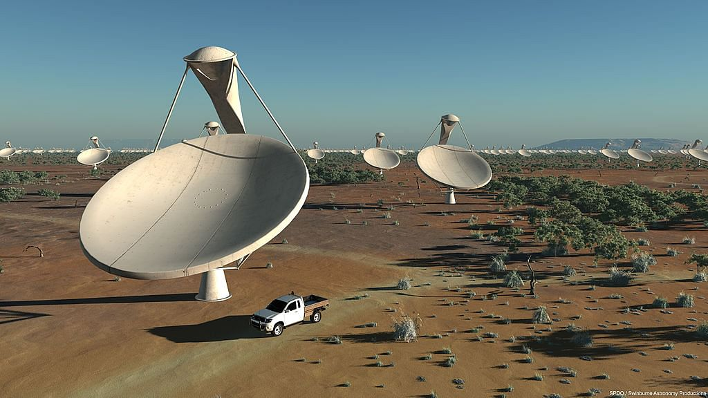 Artist's impression of the antennas