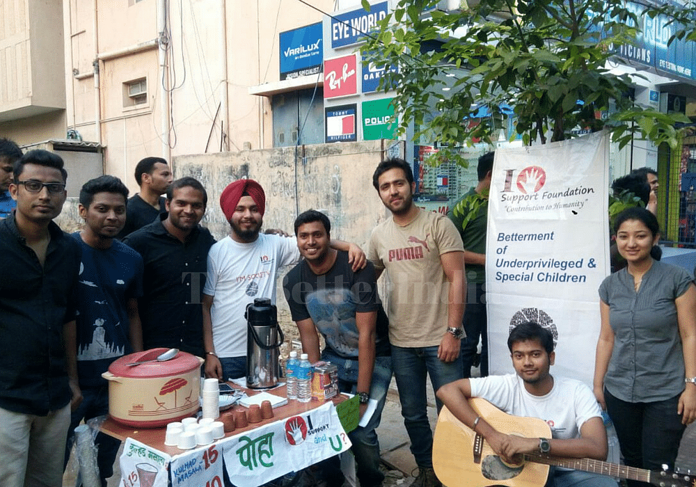 The volunteers come for the stall every weekend