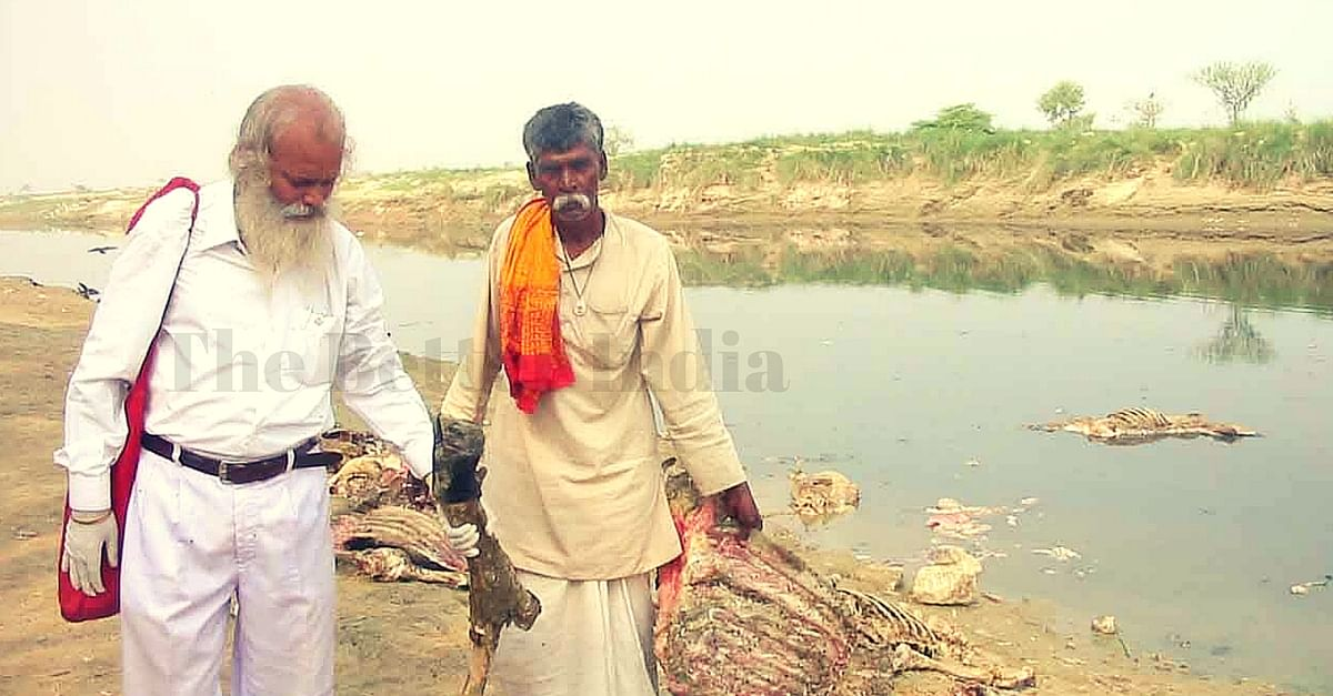 Vikas is also requesting the government to not leave sewage drains in the river.