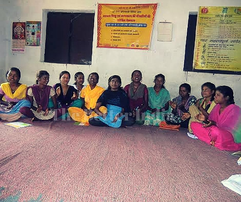 Members of the Kishori Mandal in Ranchi district get together once every week to review their micro-credit accounting and then discuss issues like eating healthy meals or standing up against child marriage. (Credit: Ajitha Menon\WFS)