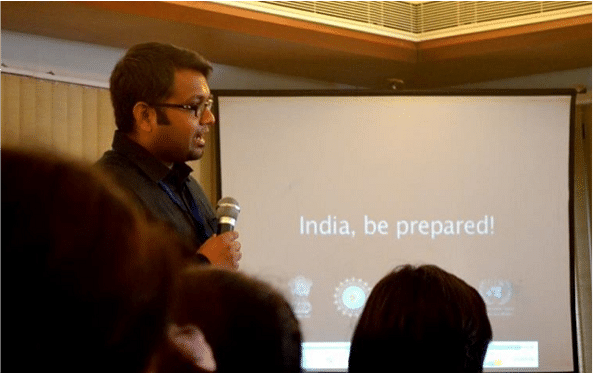 Hari conducting a workshop