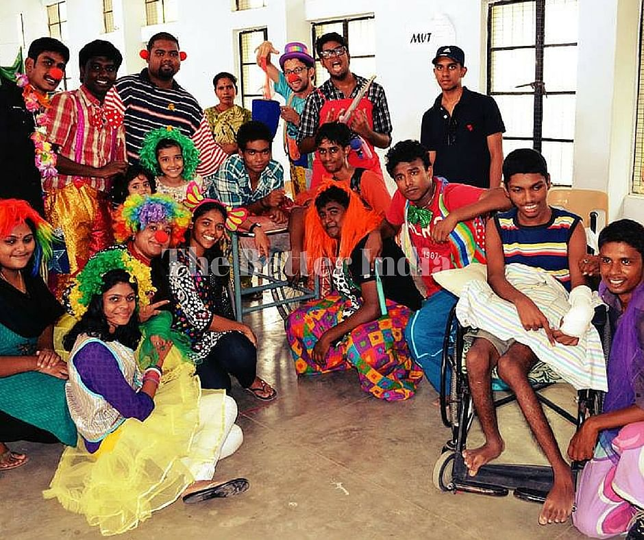 Humanitarian Clowns bring smiles on the faces of lesser privileged.
