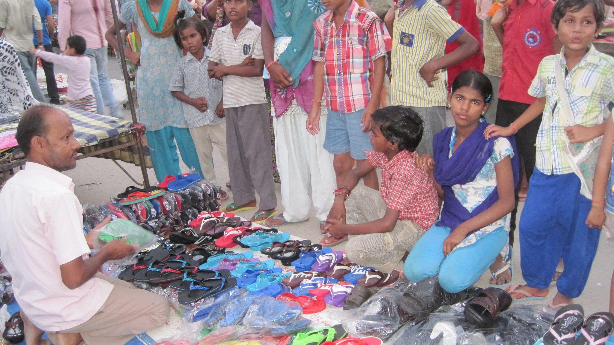 The kids, at shukkar bazaar (Friday market)