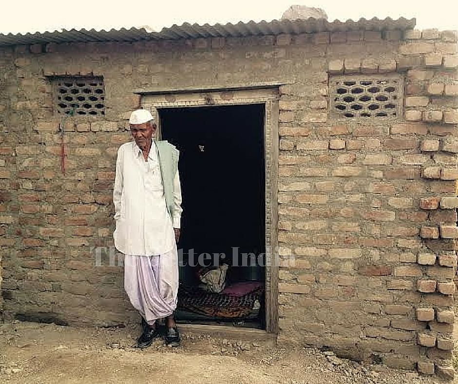 Kishan Hiwale in his new house.