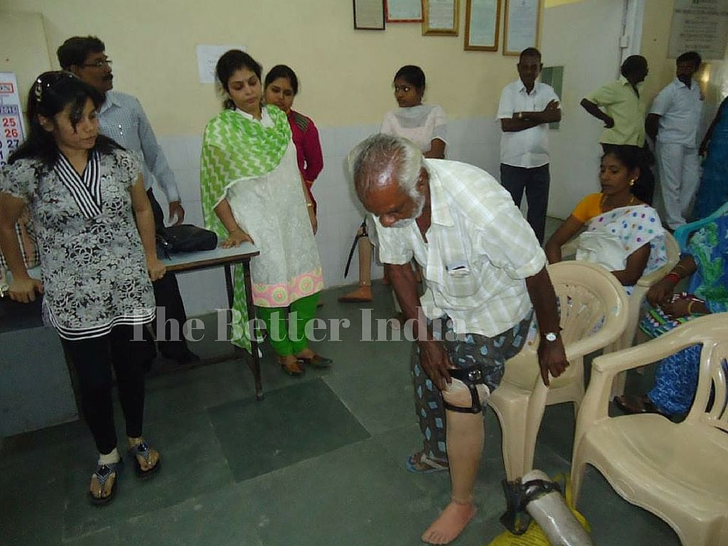 Meena started an artificial limb centre in a garage in Chennai.