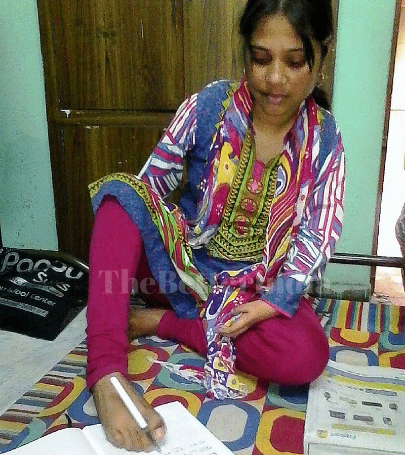 Despite being disabled from birth, Pushpa Singh has broken all stereotypes and overcome tough challenges – she works as a computer teacher in a local college and has recently been elected to the Block Development Council (BDC) in her area. (Credit: Kulsum Mustafa\WFS)