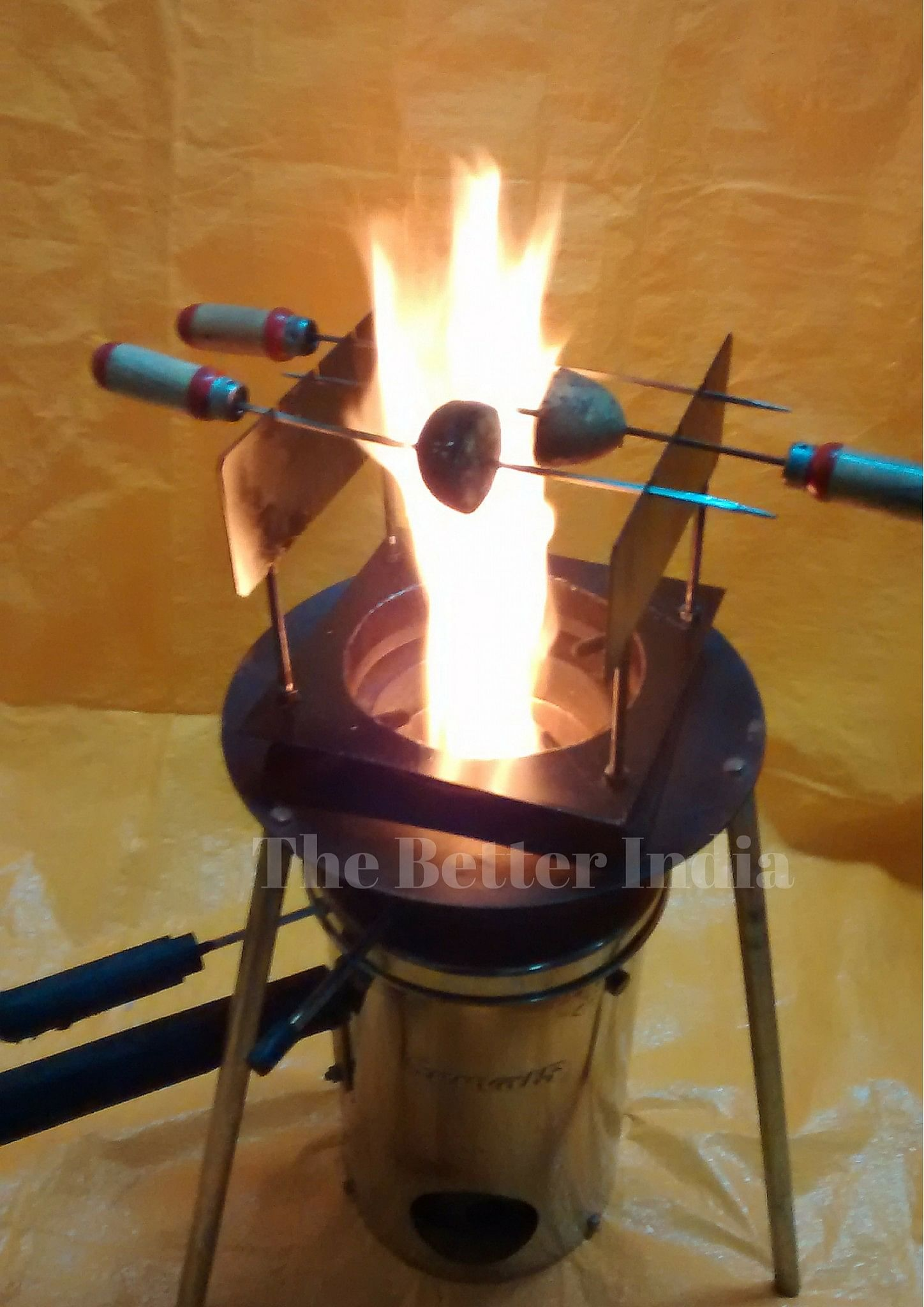 The cookstove also generates a by-product of precious biochar.