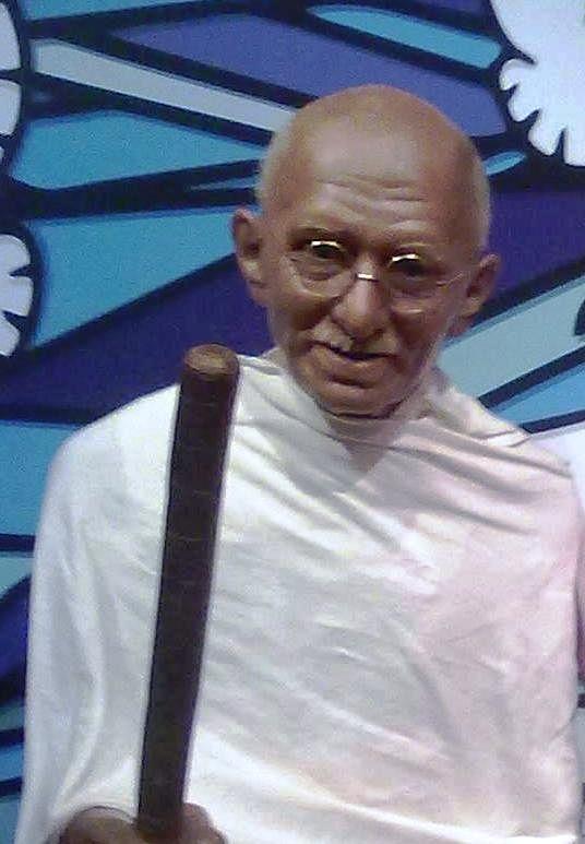 Mahatma Gandhi Wax Statue.