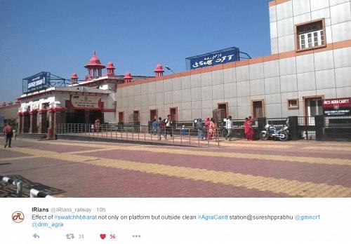 indian railways clean india