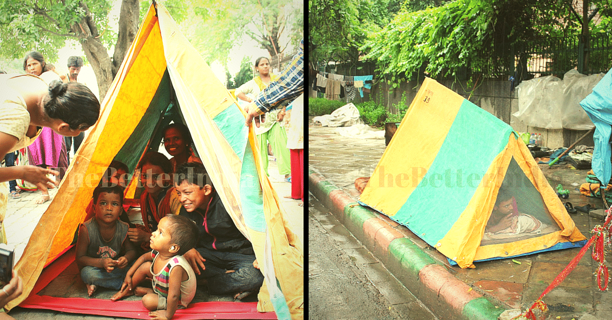 These Innovative Tents Are Keeping 125 Homeless Families in Delhi Safe and Warm This Winter