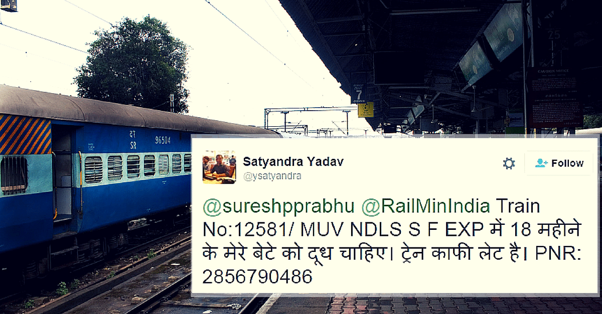 An 18-Month-Old Baby Needed Milk on a Train. His Father Tweeted, and Indian Railways Delivered.