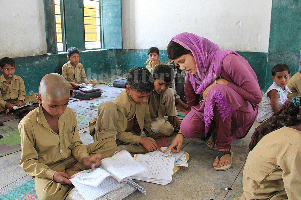Once an industrious child labourer, who used to stitch footballs to help out her parents, 19-year-old Zainab has transformed herself into an activist committed to the cause of children's education. (Credit: Azera Parveen Rahman\WFS)