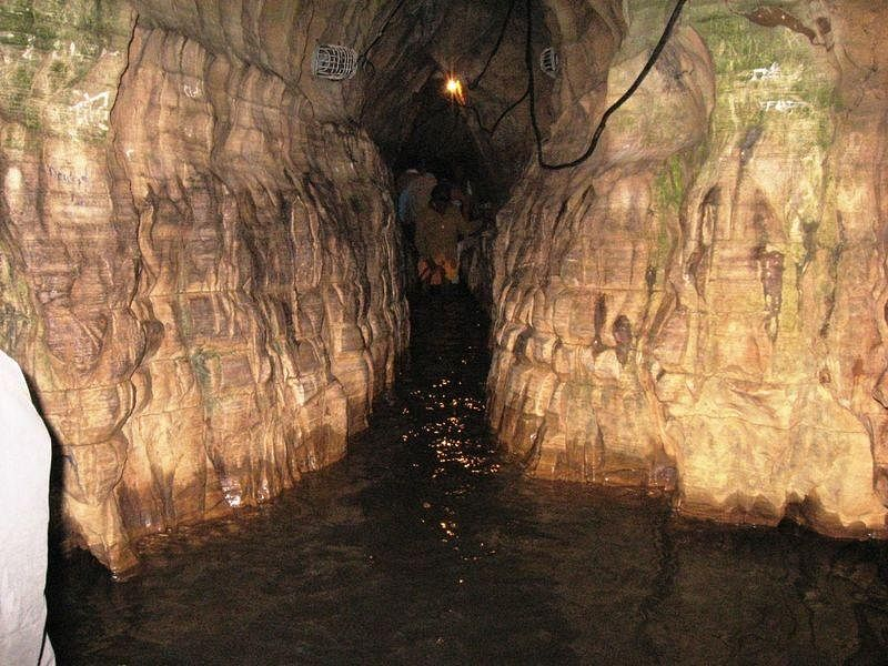 The narrow caves as a water stream that flows for the entire year.