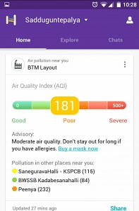 helpchat pollution alert