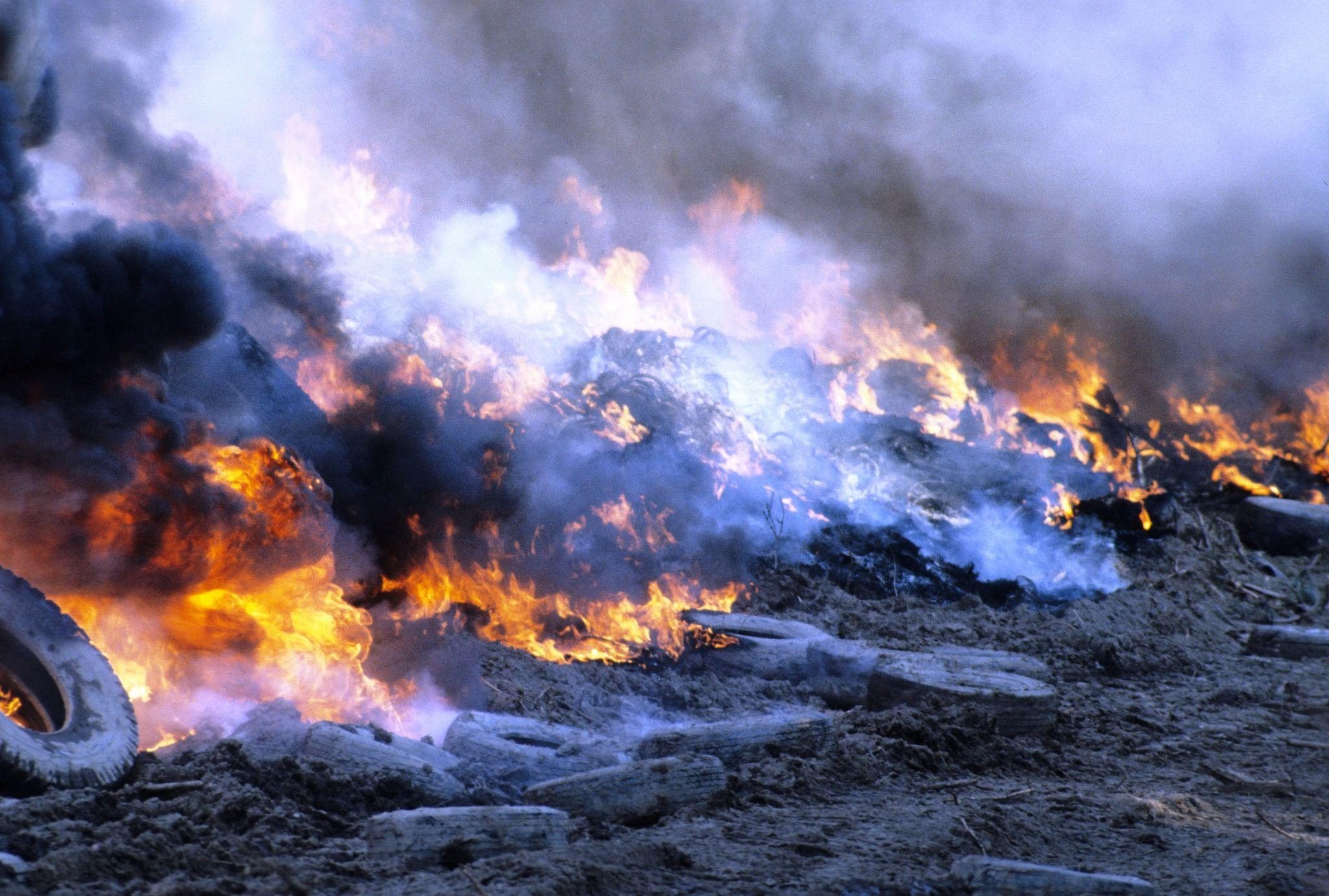 tyres burning