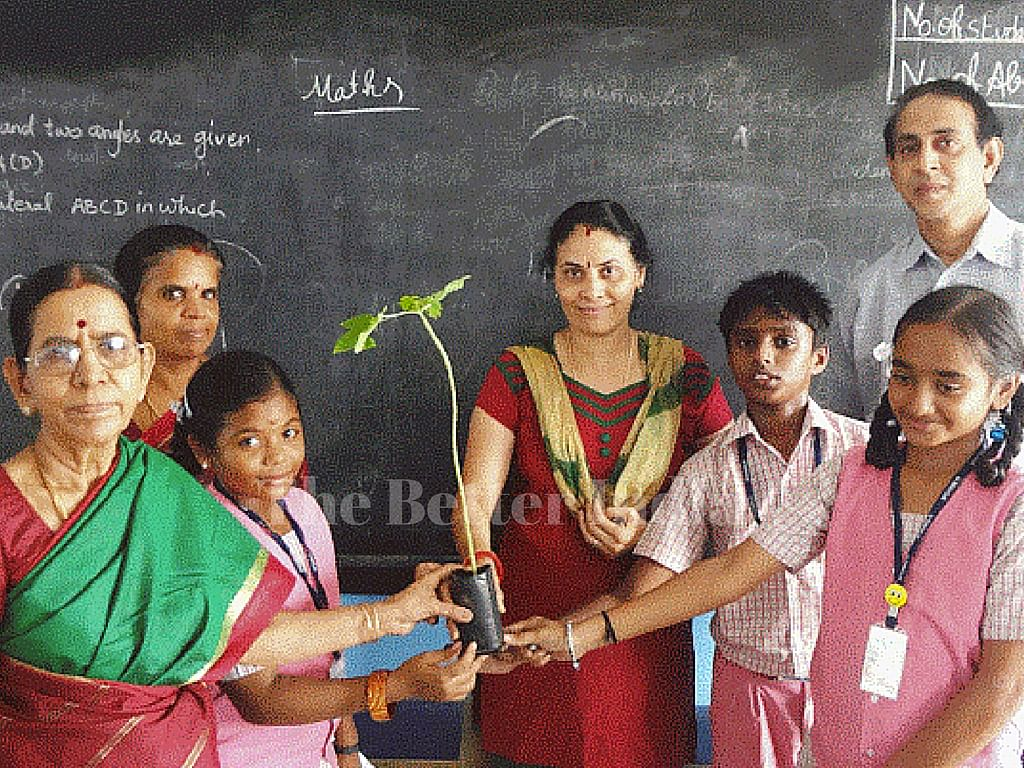 The couple also donates trees and asks students to plant it to fulfill late Dr. Kalam's dream.