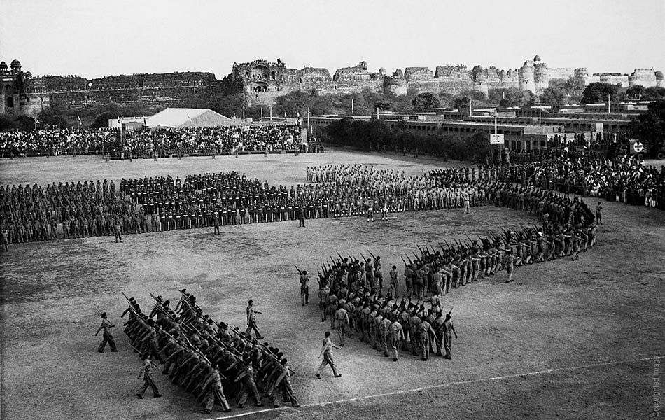The first Republic Day parade in 1950.