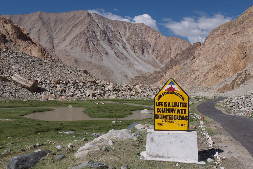 Road signs in Ladakh