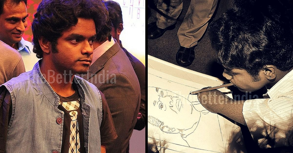 The Extraordinary Story of Janarthanan, a Mouth Painter Who Exemplifies Grit and Determination