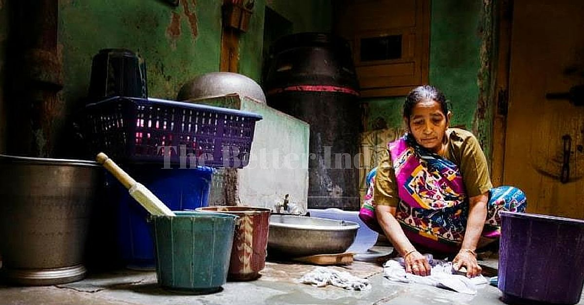 With no laws or policies to protect their interests women domestic workers in India are highly overworked and underpaid and are often subjected to mistreatment at the hands of their employers. (Courtesy: ILO)